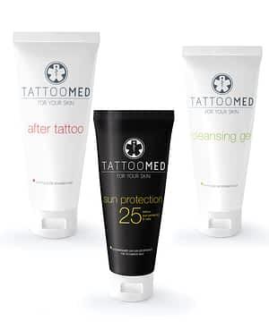 Paket tattoo med s sončno kremo s faktorjem 25